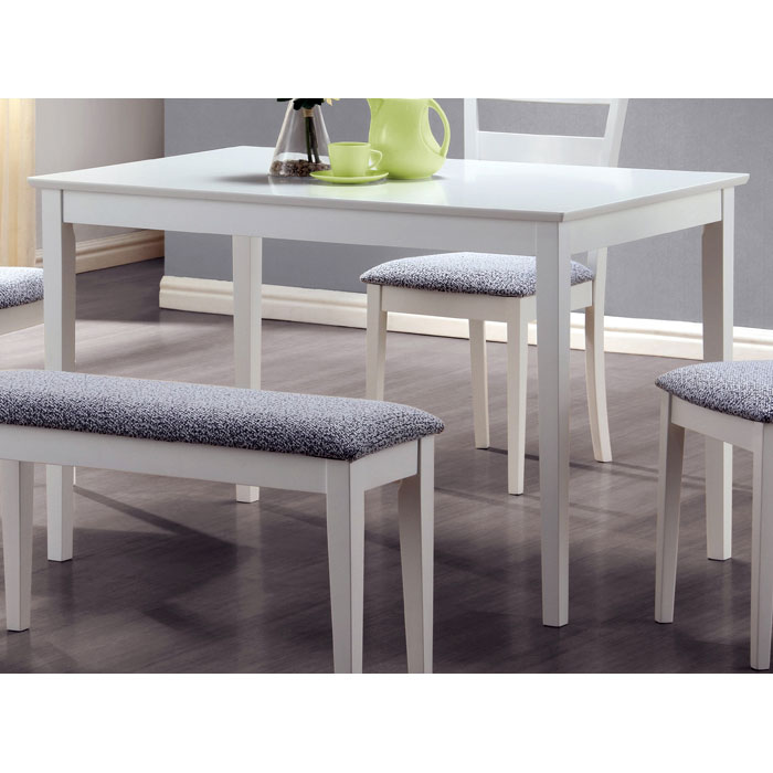 Innocence 5 Piece Dining Set - White, Ladder Back Chairs - MNRH-I-1210