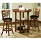 Loyalty Swivel Bar Stool - Dark Oak Finish, Black Seat (Set of 2) - MNRH-I-1251