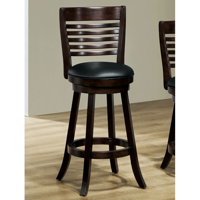 Piety 29'' Swivel Bar Stool - Cappuccino, Slat Back (Set of 2) - MNRH-I-1283