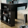 Prudence Pub Table - Storage Shelves, Cappuccino Finish