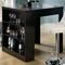 Prudence Pub Table - Storage Shelves, Cappuccino Finish - MNRH-I-1344