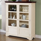 Hope Display Cabinet - Walnut, Antique White