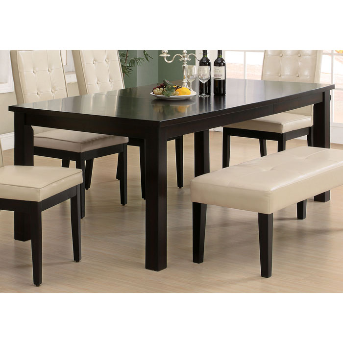 Temperance Extending Dining Table - Rectangular, Dark Espresso