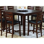 Sympathy Counter Height Dining Table with Lazy Susan - Dark Oak