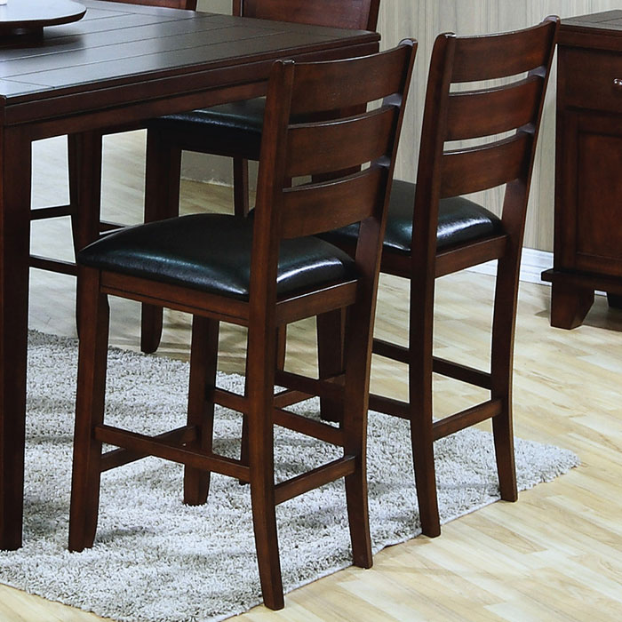 Sympathy Counter Height Chair - Dark Oak, Black Seat