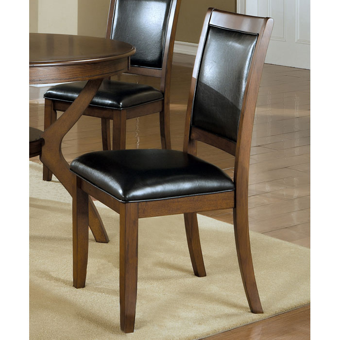 Integrity Side Chair - Dark Walnut, Black Seat & Backrest (Set of 2)