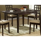 Logan Dining Table - Cappuccino Finish, Butterfly Leaf
