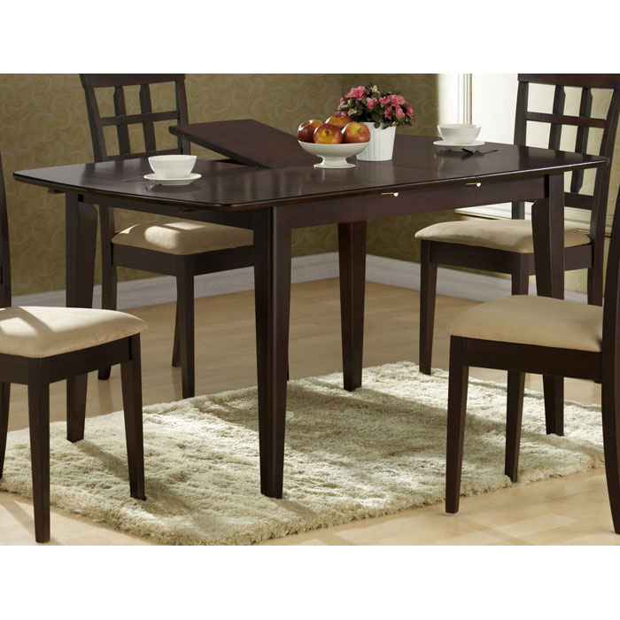 Logan Dining Table - Cappuccino Finish, Butterfly Leaf - MNRH-I-1897