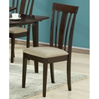 Logan Side Chair - Cappuccino Finish, Microfiber Seat (Set of 2)