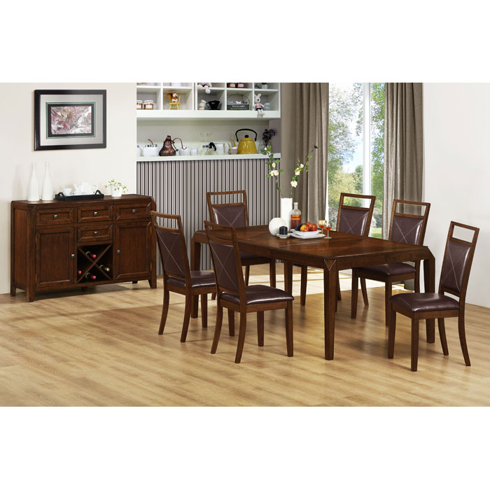 Redemption Extending Dining Table - Brown Oak Veneer Top - MNRH-I-1935