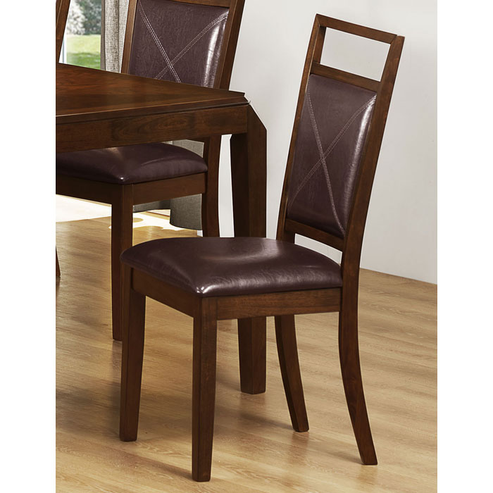 Redemption Side Chair - Brown, Tapered Legs (Set of 2)