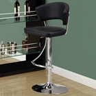 Celebration Adjustable Swivel Bar Stool - Chrome, Black