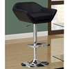 Shindig Adjustable Swivel Bar Stool - Chrome, Black (Set of 2)