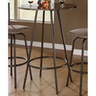 Bliss Marble Top Pub Table - Coffee Finish, Metal Base
