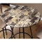 Bliss Marble Top Pub Table - Coffee Finish, Metal Base - MNRH-I-2310