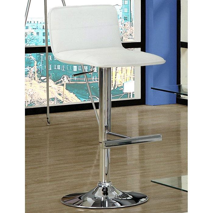 Aeon Adjustable Height Stool - Low Backrest, White (Set of 2)