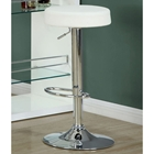 Laureate Adjustable Height Stool - Backless, White (Set of 2)