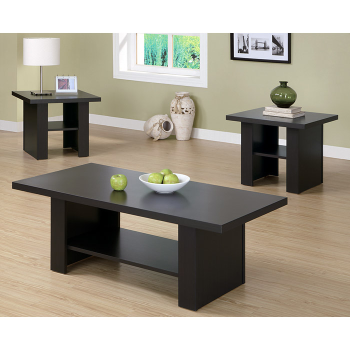 Dulcet 3 Piece Occasional Tables Set - Matte Cappuccino - MNRH-I-2514P
