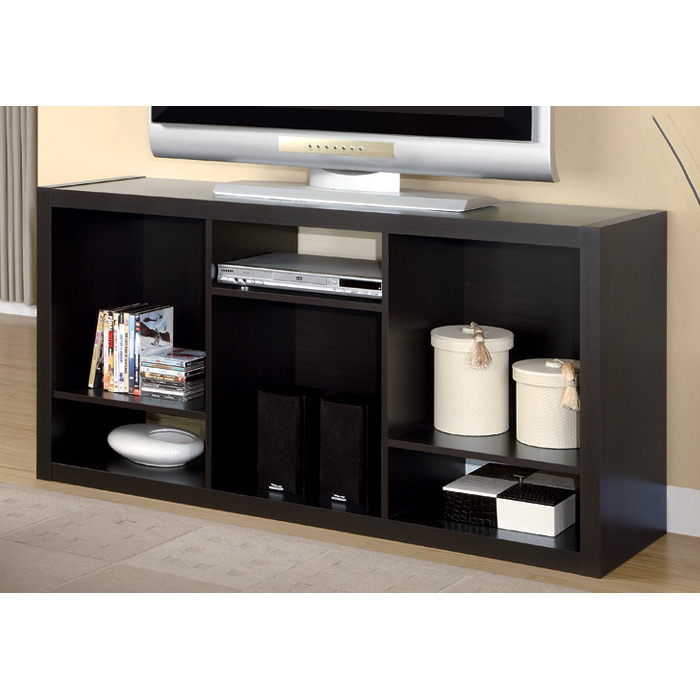 Dulcet Contemporary 56'' TV Stand - Cappuccino Finish - MNRH-I-2519-TV