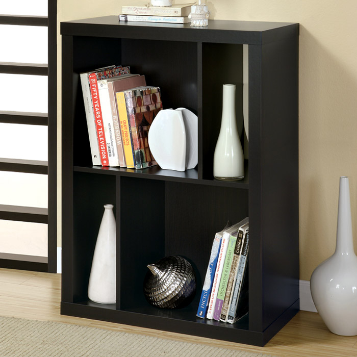 Dulcet Two-Tier Bookcase - Cappuccino Finish