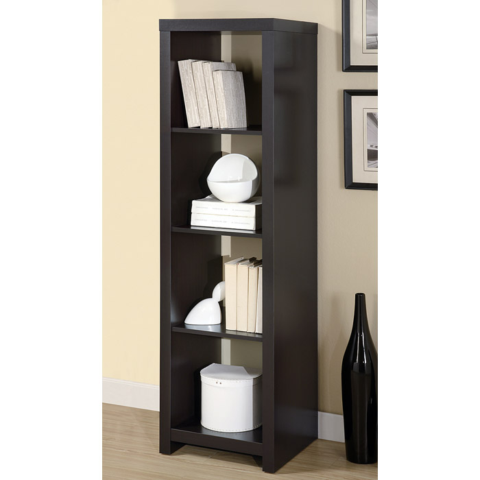 Dulcet Tall Display Unit / Bookcase - Cappuccino
