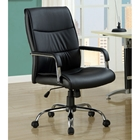 Cussler Office Chair - Black, Metal Base, Padded Armrests