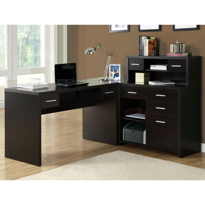 Friedrich Corner Workstation - Cappuccino Finish