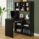 Friedrich Desk with Tall Bookcase - Cappuccino