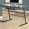 Sawyer L-Shaped Computer Desk - Glass, Black Finished Metal - MNRH-I-7172