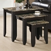 Meissner 3 Piece Nesting Tables Set - Cappuccino Finish