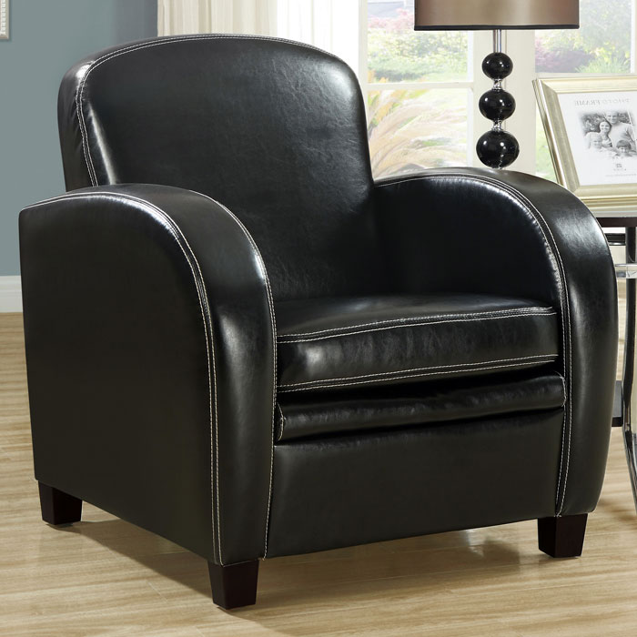 Coolidge Club Chair - Curved Arms, Black