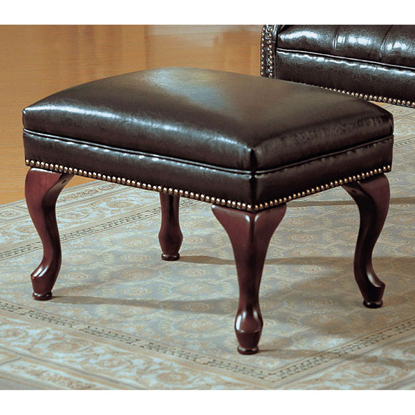 Bellucci Wingback Chair and Ottoman Set - Cabriole Legs - MNRH-I-8090