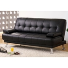 Amani Convertible Sofa - Removable Armrests, Black