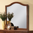 Auckland Arched Mirror - Hardwood Frame, Antique Oak Finish