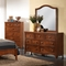 Auckland 5 Piece Queen Bedroom Set - Platform Bed, Antique Oak - NSI-517005BQS