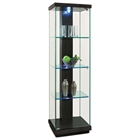 Marcel Lighted Display Curio - Hardwood, Glass
