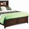 Edison King Storage Bed - Bookcase Headboard, Java Oak - NSI-516002BEK