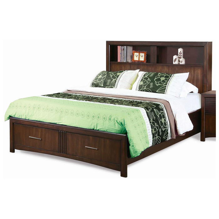 Edison 5 Piece Bedroom Set - Storage Bed, Java Oak, Queen - NSI-516002BQS