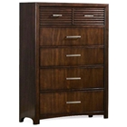 Edison 6-Drawer Chest - Hardwood, Java Oak Finish
