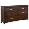 Edison 6-Drawer Dresser - Hardwood, Java Oak Finish