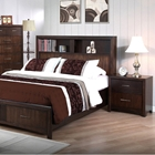 Edison 5 Piece Bedroom Set - Storage Bed, Java Oak, King