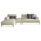 Manhattan Sectional Set - Cream Fabric, Left Facing Chaise