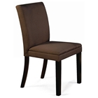 Carrick Side Chair - Hardwood Legs, Brown Microfiber