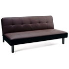 Ivan Modern Convertible Sofa - Tufted, Brown