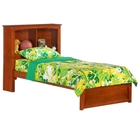 Vanilla Kids Bed with Cherry Bookcase Headboard