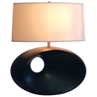 Convergence Dark Brown Wooden Table Lamp