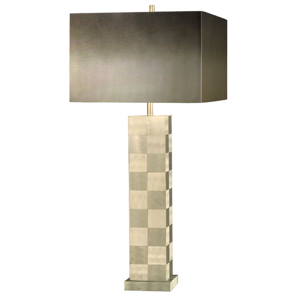 Times Squared Checkered Table Lamp
