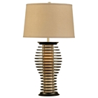 Ripas Standing Table Lamp with Wood Slats