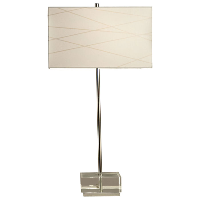 Criss Cross Table Lamp with Clear Base