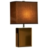 Hepburn Table Lamp in Bronze and Brown